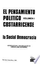 El Pensamiento político costarricense