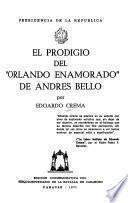 El prodigio del Orlando enamorado de Andrés Bello