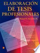 Elaboración de tesis profesionales