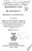 Elementos de aritmética, álgebra y geometría