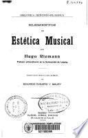 Elementos de estética musical