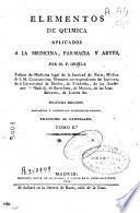 Elementos de química aplicada a la medicina, farmacia y artes
