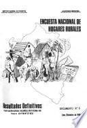 Encuesta nacional de hogares rurales