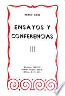 Ensayos y conferencias