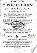 Epicteto y Phocilides en Español con consonantes