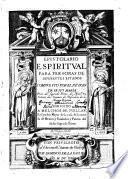 Epistolario espiritual ...