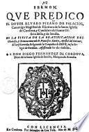 ermon que predico el doctor Aluaro Pizano de Palacios csnonigo ... de la santa iglesia de Cordoua, ... en la fiesta de la beatificacion del ... P. Francisco Xauier, ... de la esclarecida religion de la Compania de Iesus, ..