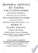 España Romana ; parte segunda: España Romana baxo del imperio