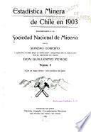 Estadística minera de Chile ...