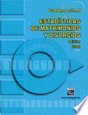 Estadísticas de matrimonios y divorcios. Cuaderno número 9