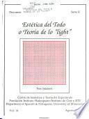 Estética del todo o teoría de lo light