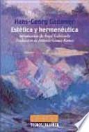 Estética y hermenéutica
