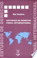 Estudios de derecho penal internacional