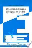 Estudios de historia de la lexicografía del español
