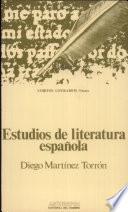 Estudios de literatura española