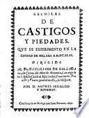 Exemplar De Castigos Y Piedades. Que Se Experimento En La Ciudad De Malaga A 1649