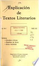 Explicación de textos literarios