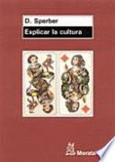 Explicar la cultura