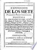 Exposicion de los siete psalmos penitenciales