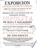 Exposicion literal, mystica y moral, sobre los lugares mas selectos de los ss. quatro evangelios