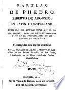 Fábulas de Phedro en latin y castellano