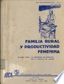 Familia rural y productividad femenina