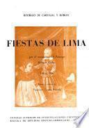 Fiestas de Lima por el nacimiento del principe Baltasar Carlos, Lima, 1632