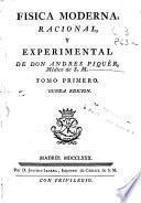 Fisica moderna, racional, y experimental