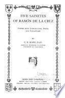 Five sainetes of Ramón de la Cruz