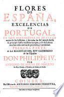 Flores de España, Excellencias de Portugal