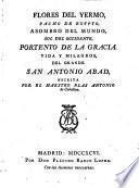Flores del Yermo, Pasmo de Egypto Vida y hilagros del Grande San Antonio Abad