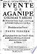 Fuente de Aganipe, o rimas varias, divididas en siete partes