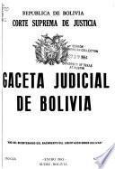 Gaceta judicial de Bolivia