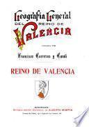 Geografia general del reino de Valencia