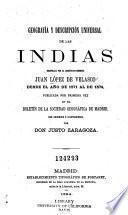 Geografía y descripción universal de las Indias