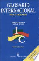 Glosario Internacional Para El Traductor (empat.)