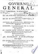 Govierno general, moral, y politico