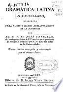 Gramática latina en castellano