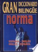 Gran diccionario bilingüe norma