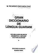 Gran diccionario de lengua guaraní