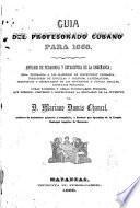 Guía del profesorado Cubano para 1868
