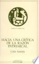 Hacia una crítica de la razón patriarcal