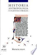 Historia, antropología y fuentes orales