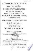Historia critica de España y de la cultura española, 2 (1a part)