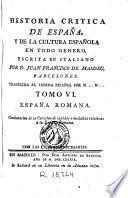 Historia critica de España y de la cultura española, 6