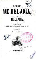 Historia de Béljica y Holanda