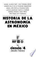 Historia de la astronomía en México