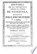 Historia de la conquista y poblacion de la Provincia de Venezuela