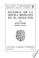 Historia de la novela mexicana en el siglo XIX.