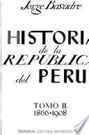 Historia de la república del Perú